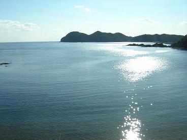 海陽町大砂海岸からみた太平洋