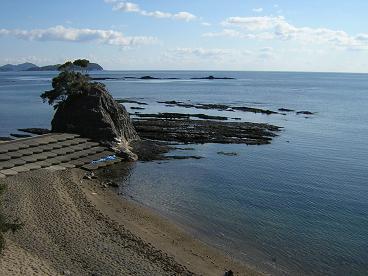 大砂海岸の大岩