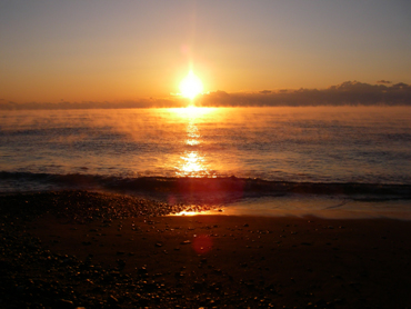 大里松原海岸の2009年初日の出