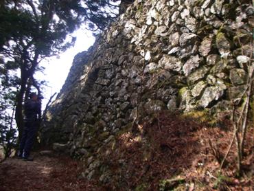 石垣に囲まれた天津神社