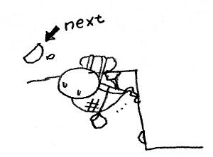 クライミングをするカメの絵